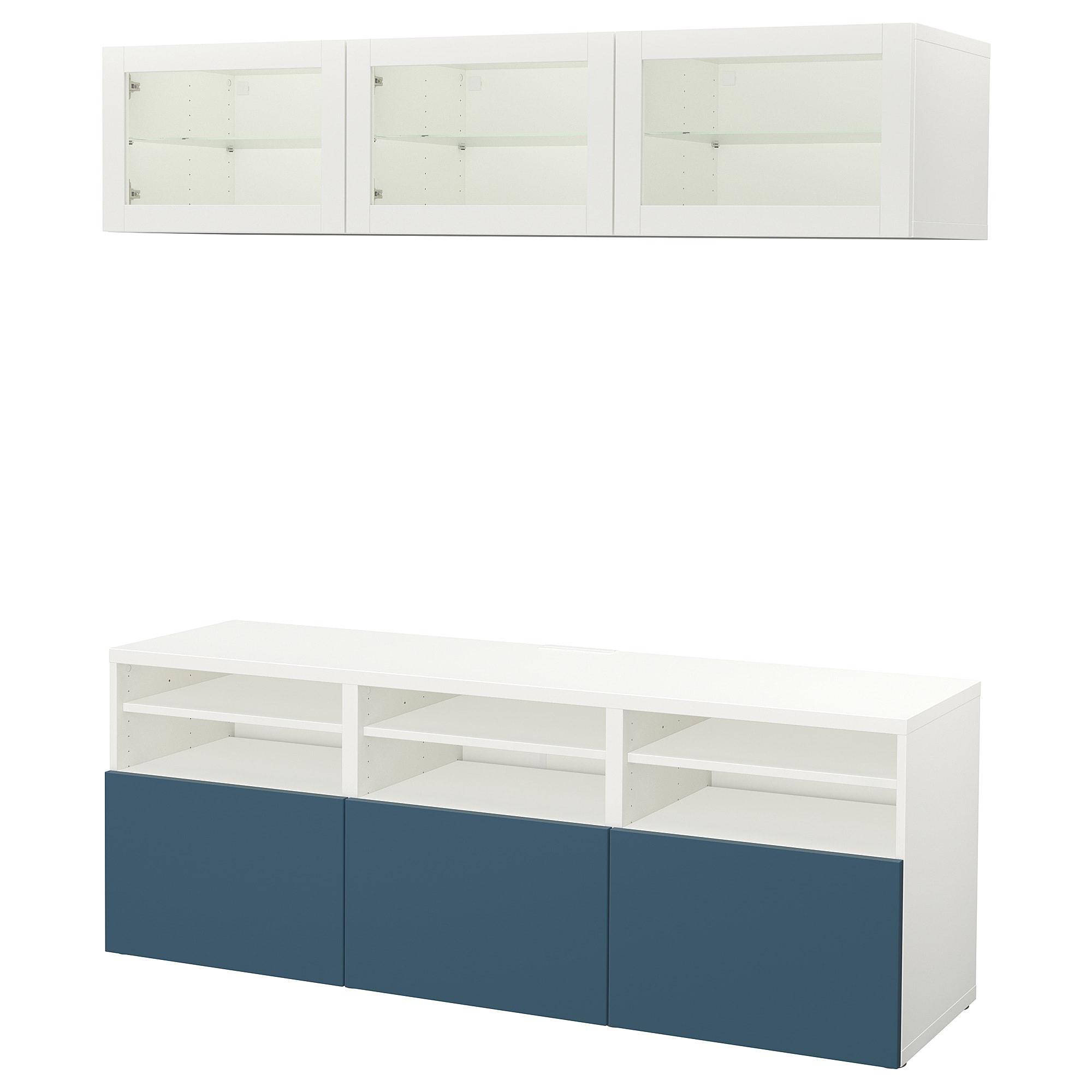 Шкаф для ТВ, комбинированный, стекляные дверцы БЕСТО артикуль № 192.498.83 в наличии. Онлайн сайт ИКЕА РБ. Быстрая доставка и установка.