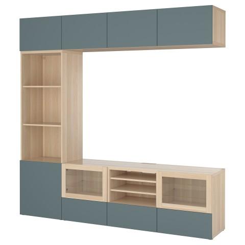Шкаф для ТВ, комбинированный, стекляные дверцы БЕСТО артикуль № 192.501.31 в наличии. Интернет каталог IKEA Минск. Быстрая доставка и монтаж.
