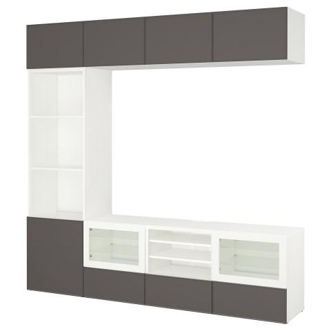 Шкаф для ТВ, комбинированный, стекляные дверцы БЕСТО артикуль № 192.501.88 в наличии. Online магазин IKEA Беларусь. Быстрая доставка и монтаж.