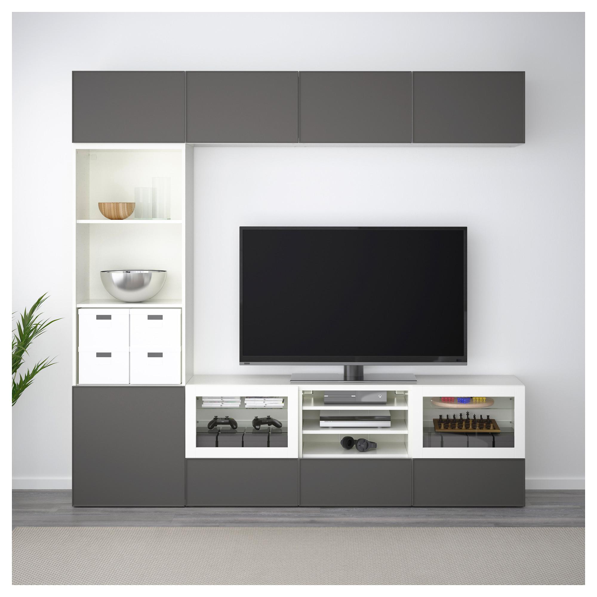 Шкаф для ТВ, комбинированный, стекляные дверцы БЕСТО артикуль № 192.501.88 в наличии. Онлайн каталог ИКЕА РБ. Недорогая доставка и установка.