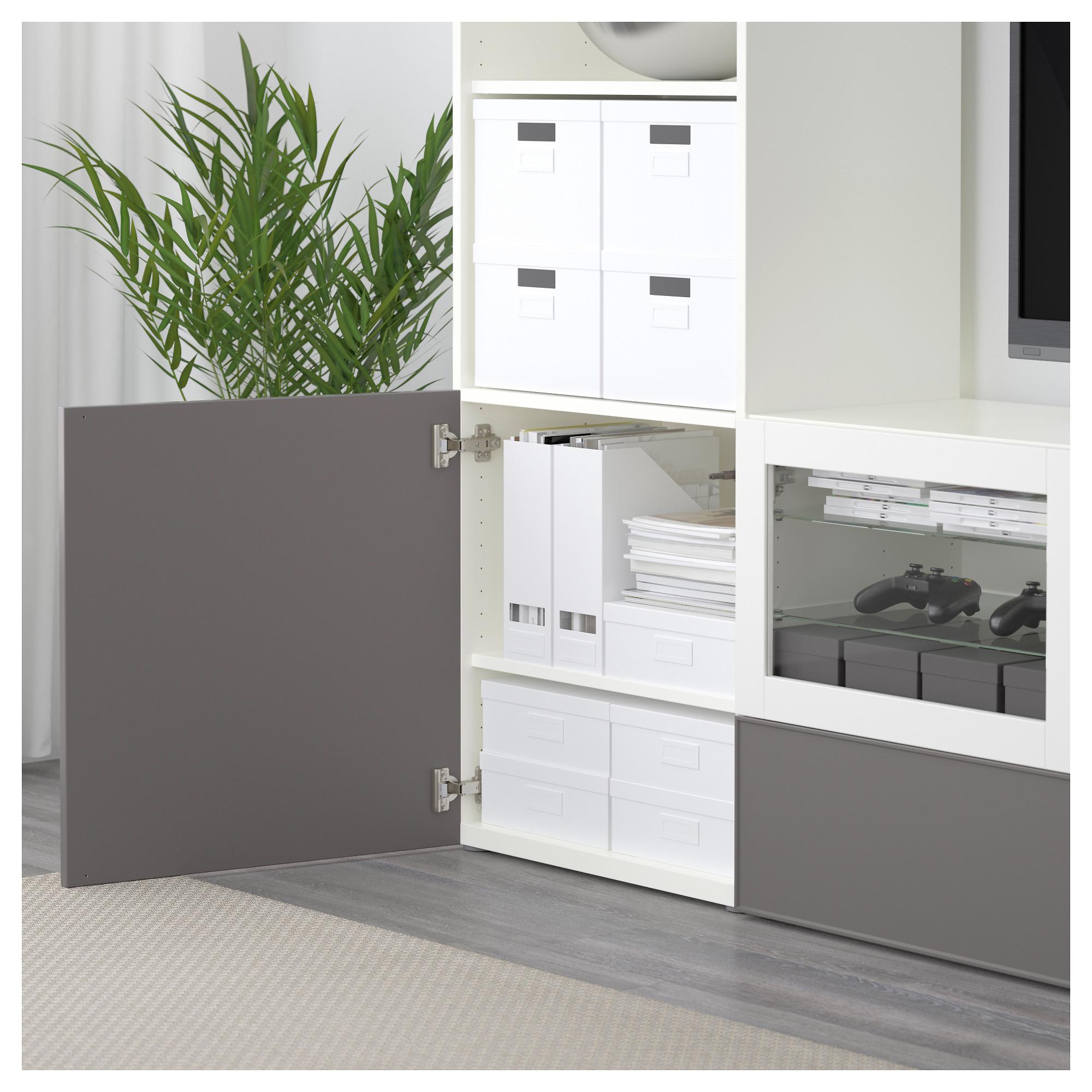 Шкаф для ТВ, комбинированный, стекляные дверцы БЕСТО артикуль № 192.501.88 в наличии. Интернет сайт IKEA Минск. Быстрая доставка и соборка.