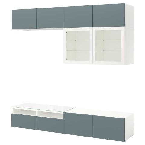 Шкаф для ТВ, комбинированный, стекляные дверцы БЕСТО белый артикуль № 292.453.56 в наличии. Online сайт IKEA Беларусь. Недорогая доставка и соборка.
