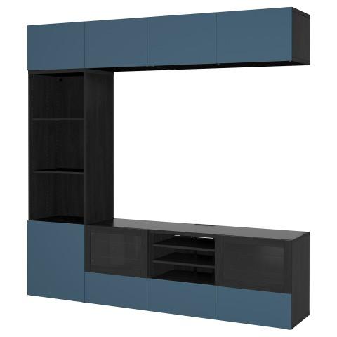 Шкаф для ТВ, комбинированный, стекляные дверцы БЕСТО артикуль № 292.501.40 в наличии. Интернет каталог IKEA Минск. Быстрая доставка и установка.