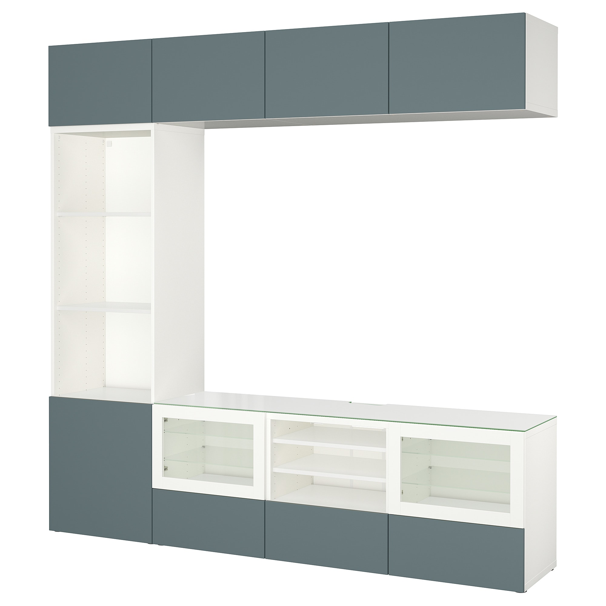Шкаф для ТВ, комбинированный, стекляные дверцы БЕСТО белый артикуль № 392.462.42 в наличии. Online каталог IKEA РБ. Быстрая доставка и установка.