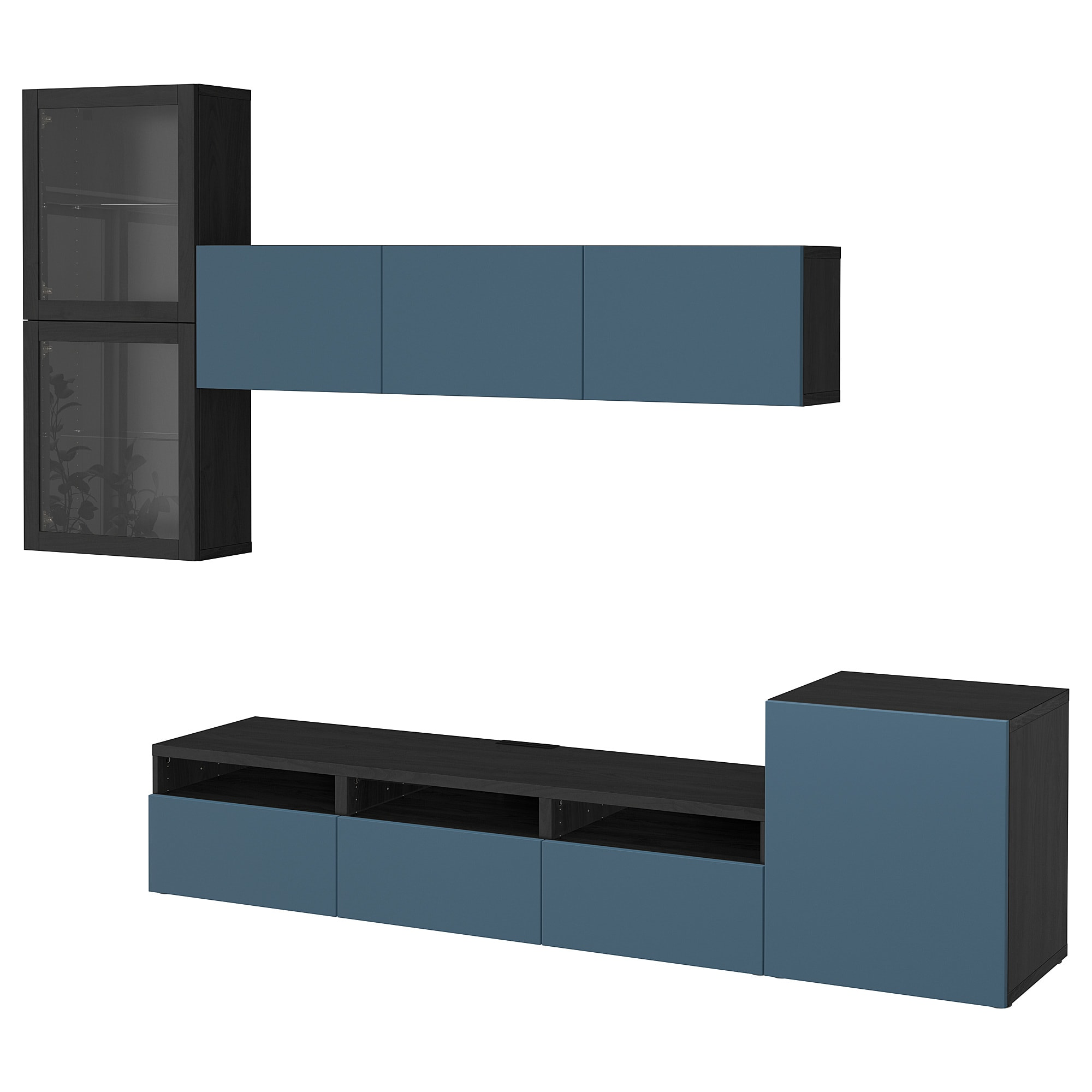 Шкаф для ТВ, комбинированный, стекляные дверцы БЕСТО артикуль № 392.522.52 в наличии. Онлайн сайт IKEA РБ. Недорогая доставка и установка.