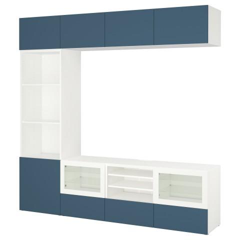 Шкаф для ТВ, комбинированный, стекляные дверцы БЕСТО артикуль № 492.501.44 в наличии. Интернет сайт IKEA Минск. Быстрая доставка и соборка.