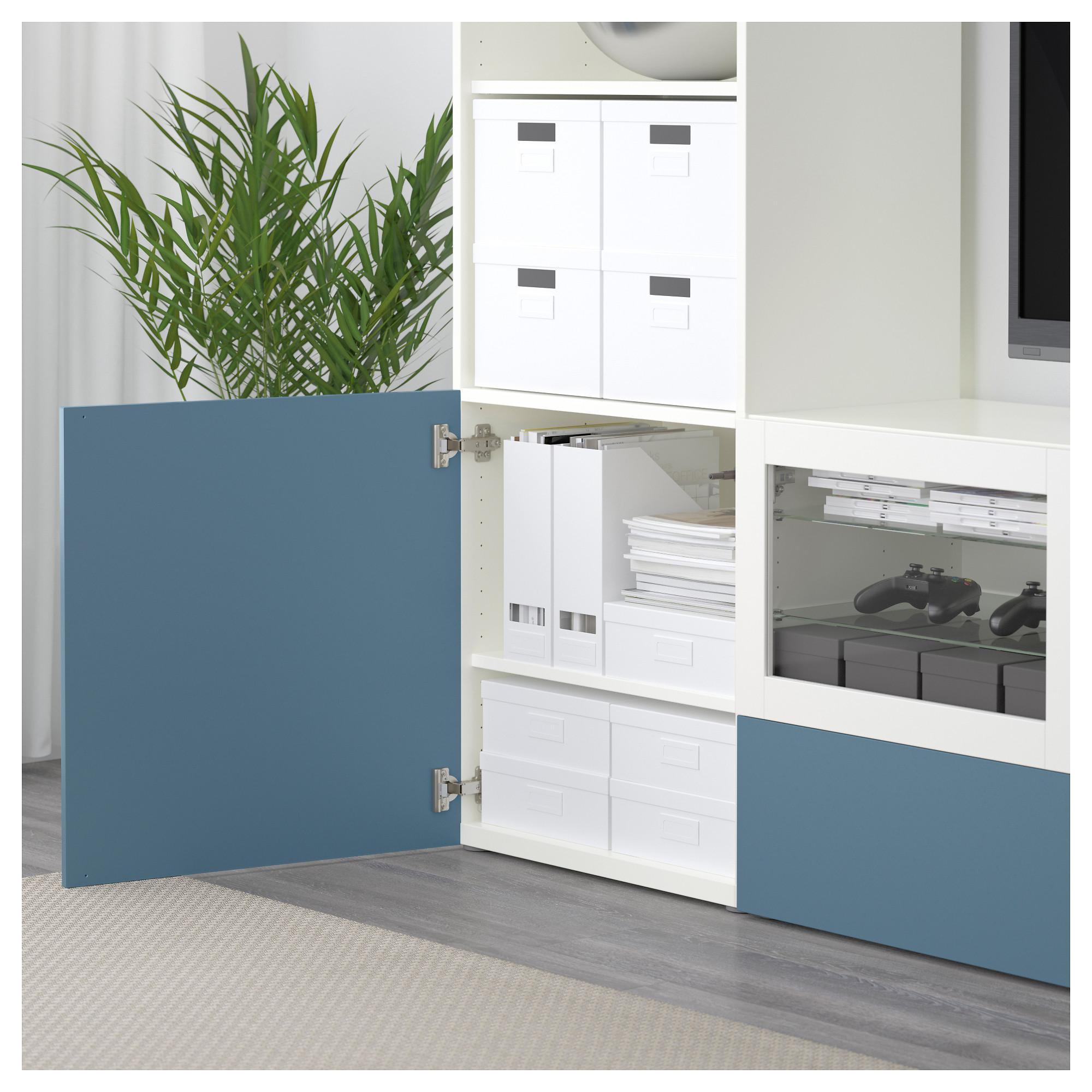 Шкаф для ТВ, комбинированный, стекляные дверцы БЕСТО артикуль № 492.501.44 в наличии. Онлайн магазин IKEA Минск. Быстрая доставка и соборка.