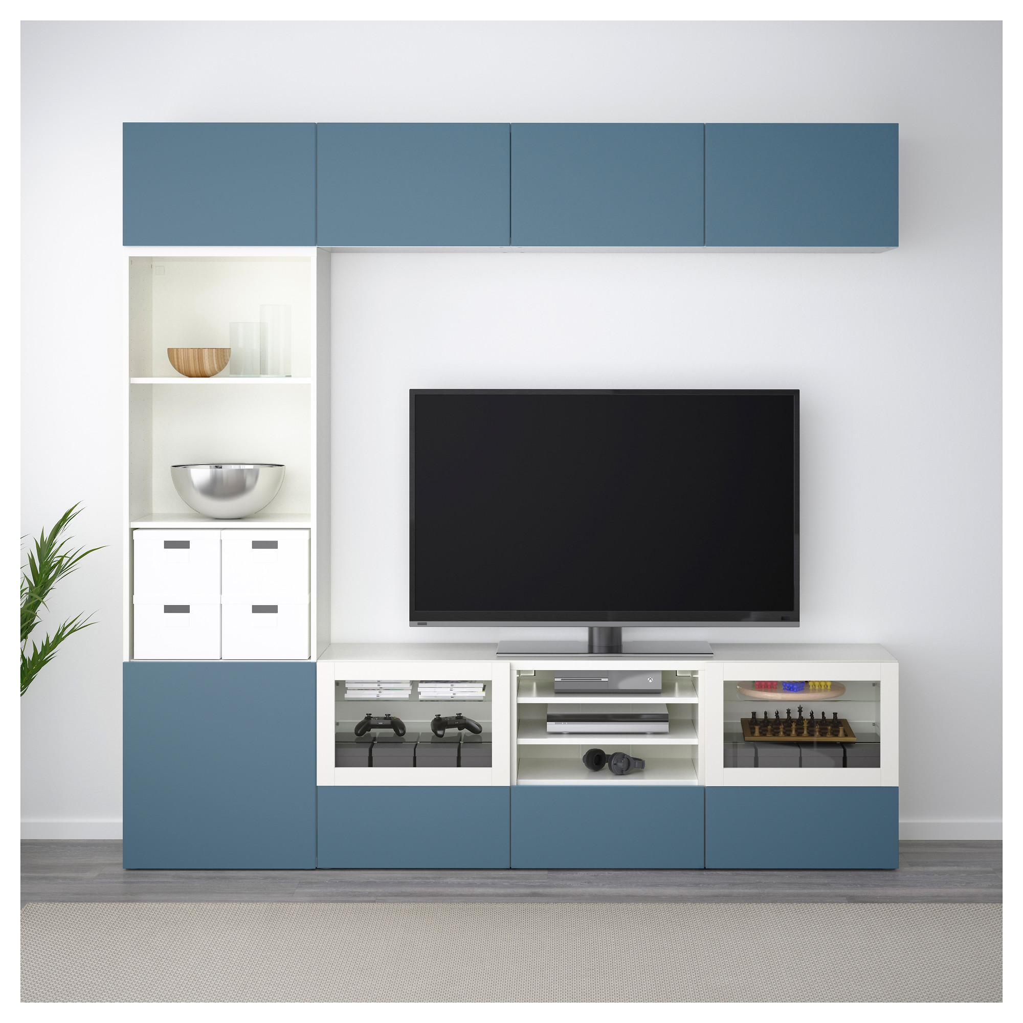 Шкаф для ТВ, комбинированный, стекляные дверцы БЕСТО артикуль № 592.501.53 в наличии. Онлайн магазин IKEA Минск. Недорогая доставка и установка.