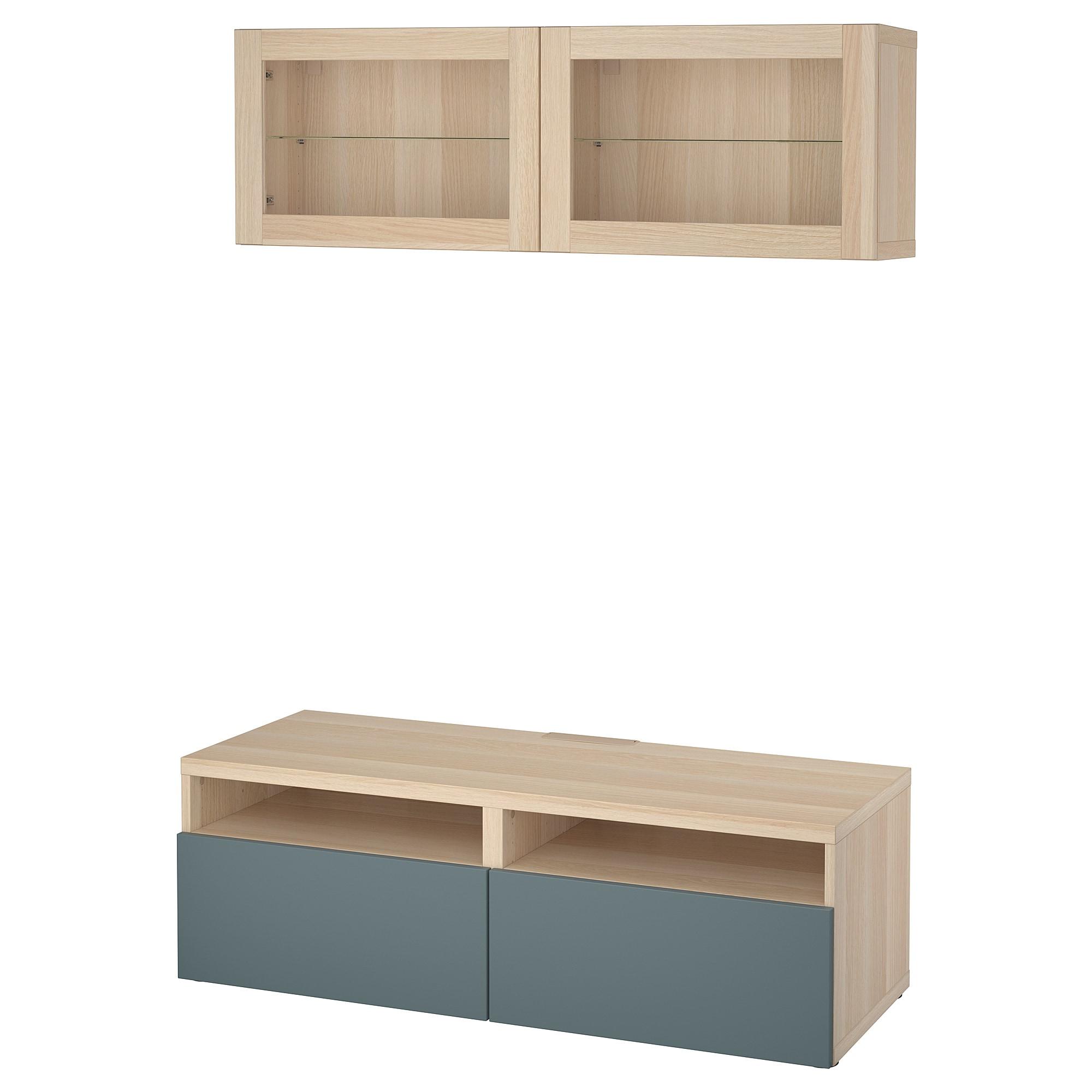 Шкаф для ТВ, комбинированный, стекляные дверцы БЕСТО артикуль № 592.505.01 в наличии. Online магазин IKEA Минск. Быстрая доставка и монтаж.