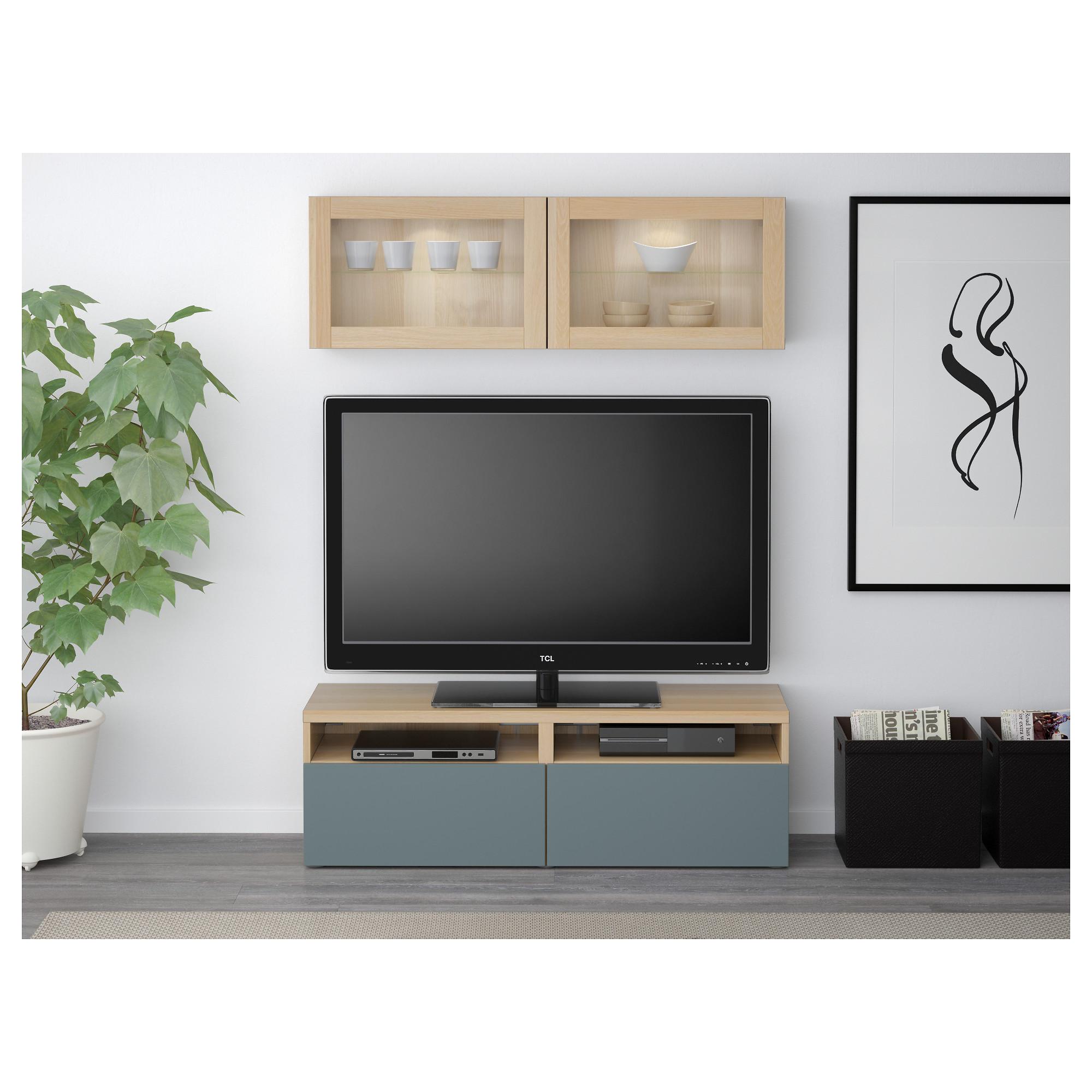 Шкаф для ТВ, комбинированный, стекляные дверцы БЕСТО артикуль № 592.505.01 в наличии. Онлайн каталог IKEA РБ. Недорогая доставка и соборка.