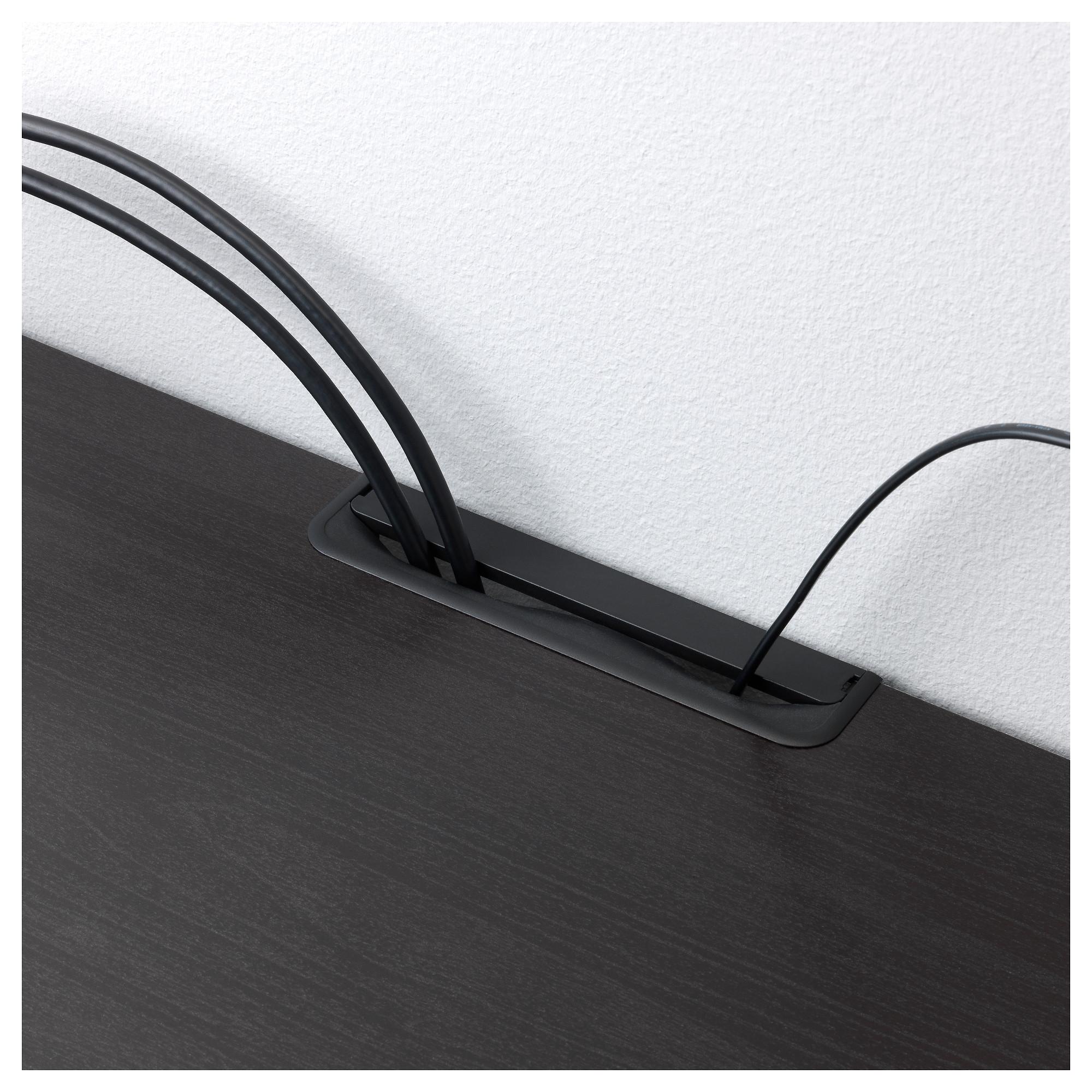 Шкаф для ТВ, комбинированный, стекляные дверцы БЕСТО черно-коричневый артикуль № 592.522.13 в наличии. Онлайн сайт ИКЕА РБ. Недорогая доставка и соборка.