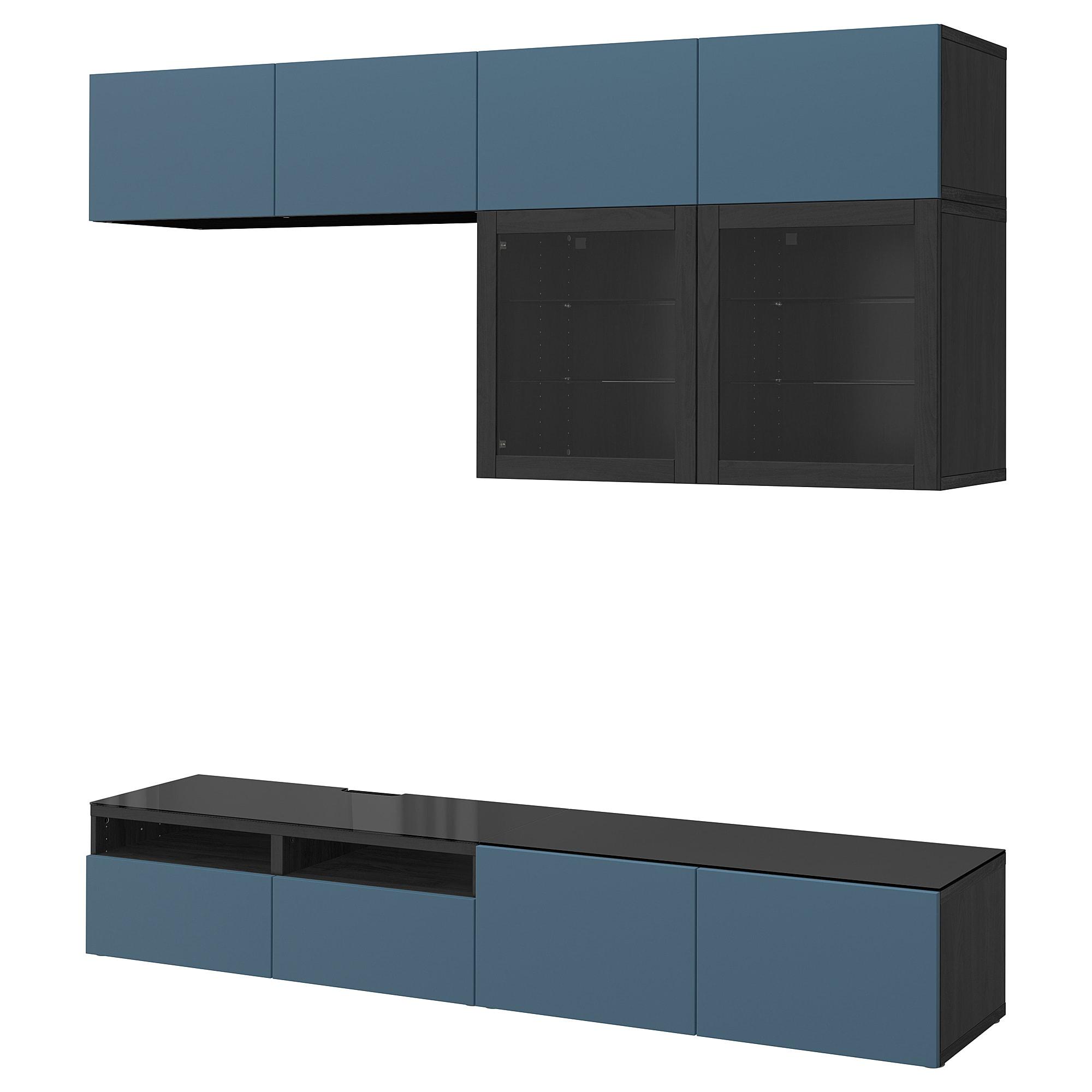 Шкаф для ТВ, комбинированный, стекляные дверцы БЕСТО артикуль № 692.453.59 в наличии. Интернет каталог IKEA Минск. Недорогая доставка и монтаж.