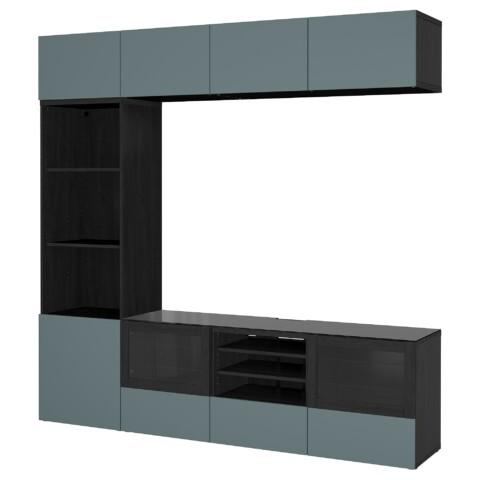 Шкаф для ТВ, комбинированный, стекляные дверцы БЕСТО артикуль № 692.462.45 в наличии. Интернет сайт IKEA Минск. Быстрая доставка и установка.
