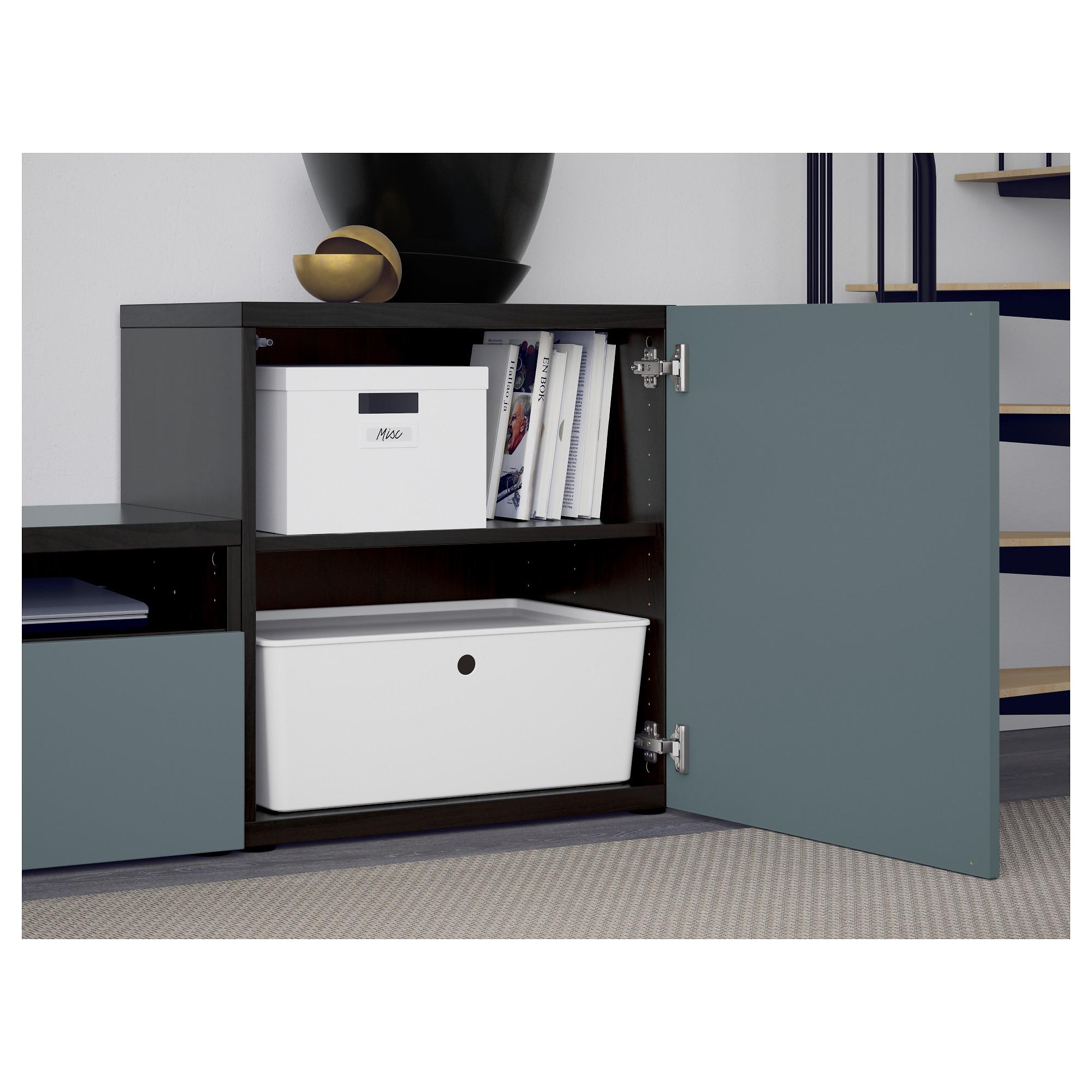 Шкаф для ТВ, комбинированный, стекляные дверцы БЕСТО артикуль № 692.522.17 в наличии. Онлайн сайт IKEA Минск. Быстрая доставка и соборка.