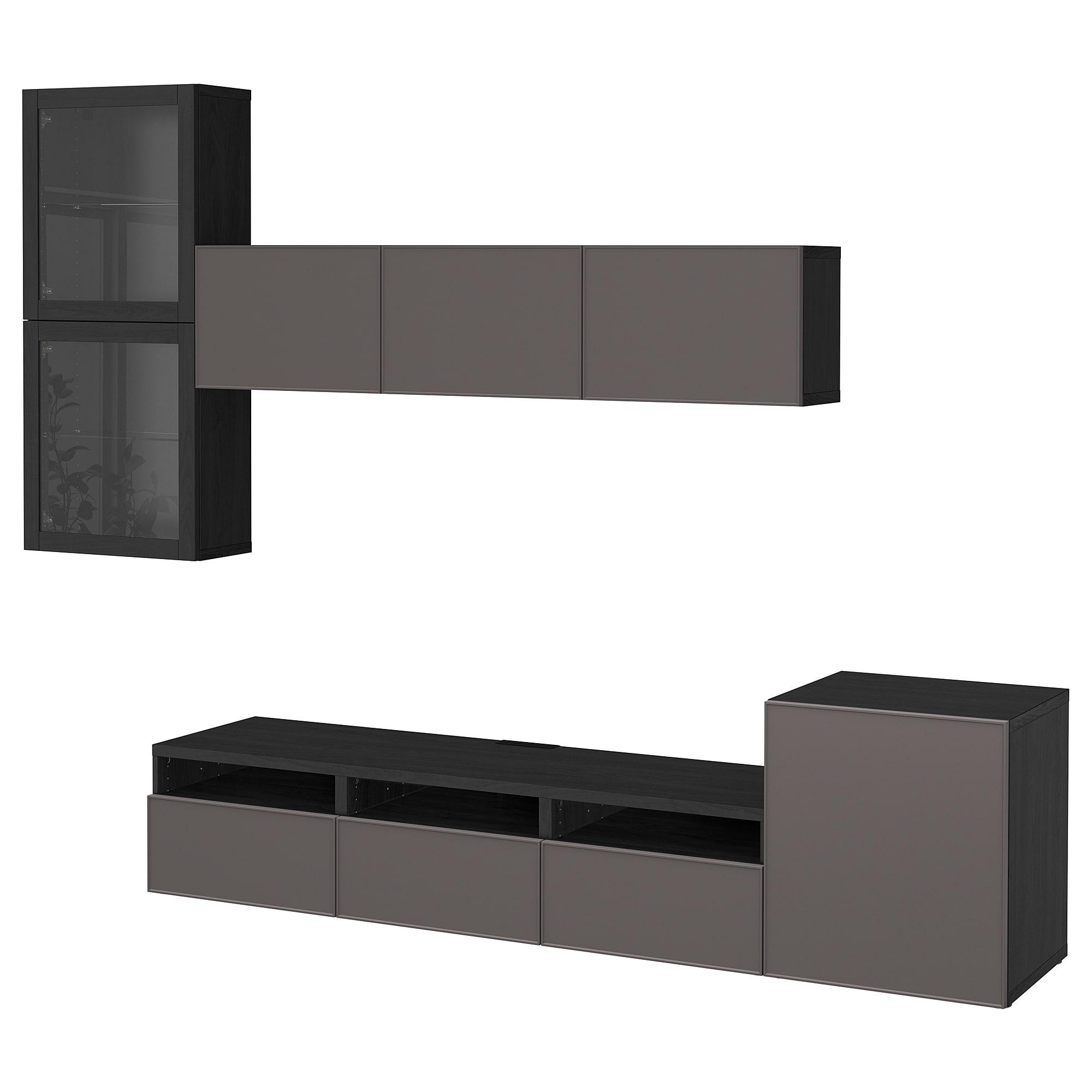Шкаф для ТВ, комбинированный, стекляные дверцы БЕСТО артикуль № 792.522.12 в наличии. Онлайн сайт IKEA Минск. Недорогая доставка и монтаж.