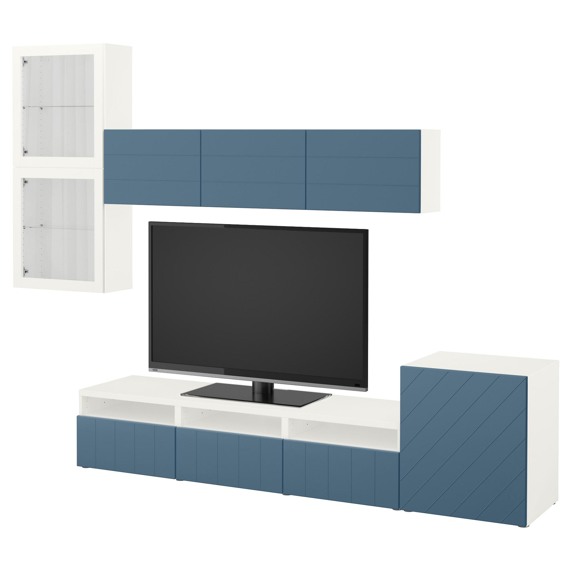 Шкаф для ТВ, комбинированный, стекляные дверцы БЕСТО артикуль № 792.761.33 в наличии. Интернет сайт ИКЕА РБ. Быстрая доставка и монтаж.