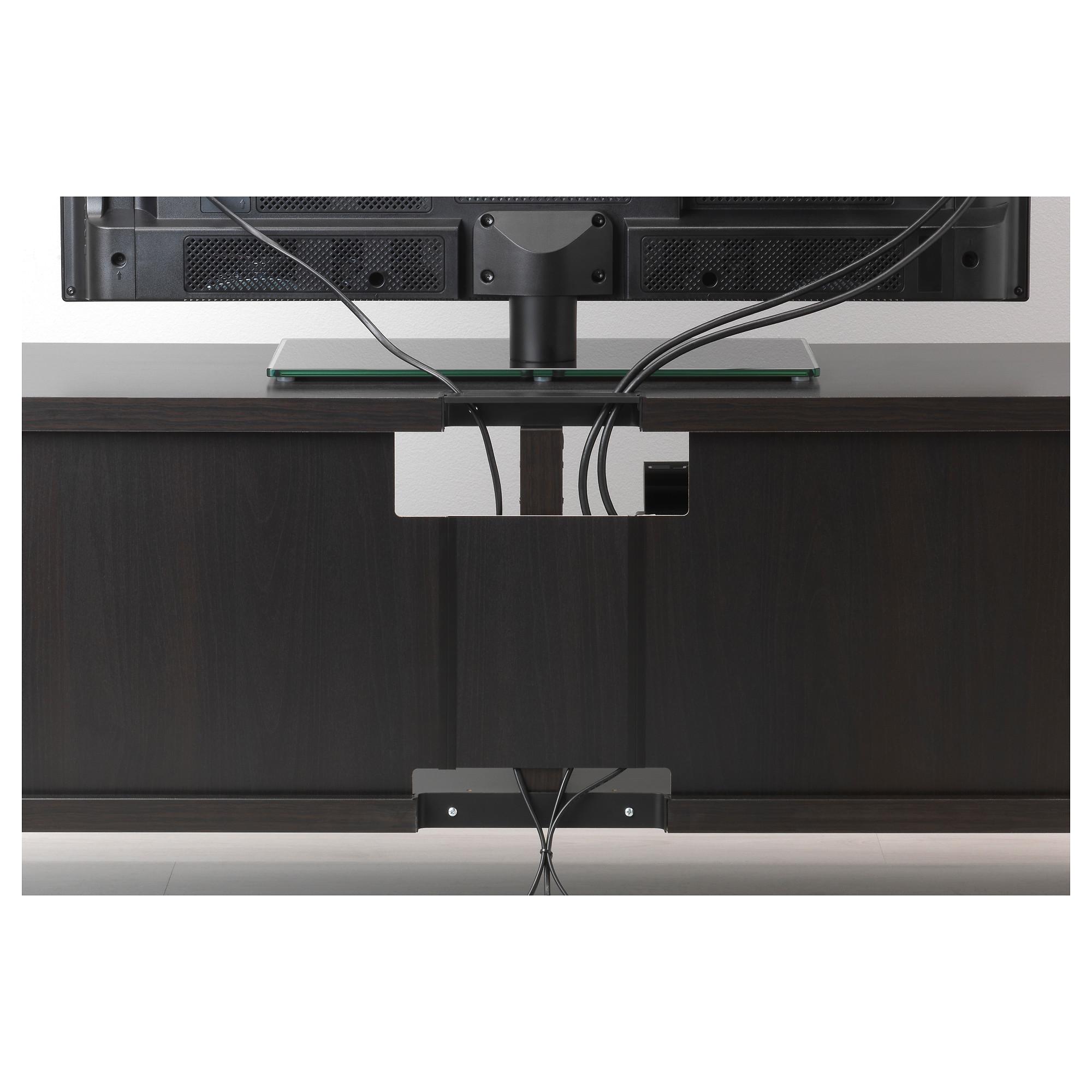 Шкаф для ТВ, комбинированный, стекляные дверцы БЕСТО черно-коричневый артикуль № 892.504.77 в наличии. Интернет каталог IKEA Беларусь. Быстрая доставка и монтаж.