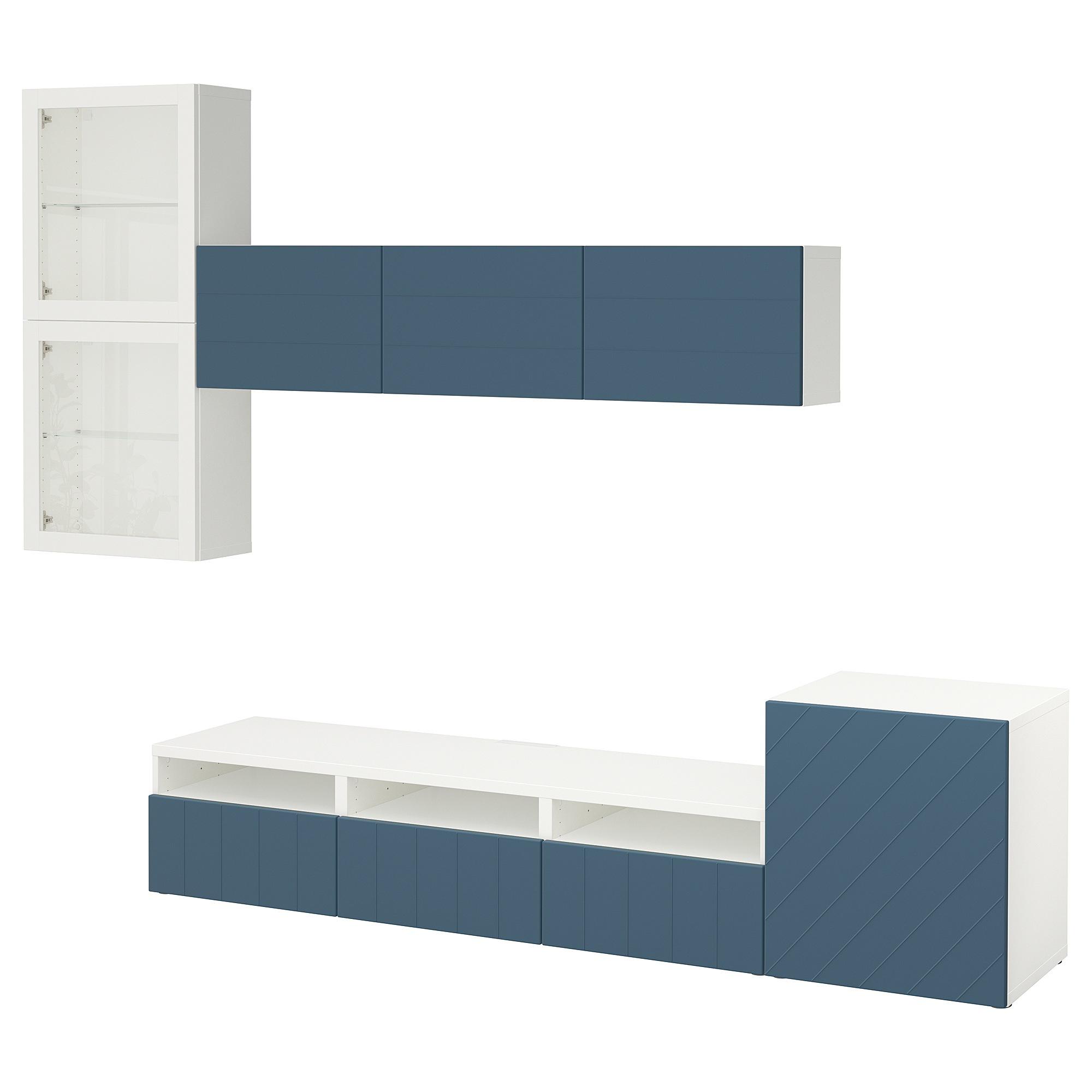 Шкаф для ТВ, комбинированный, стекляные дверцы БЕСТО артикуль № 892.761.37 в наличии. Online магазин IKEA РБ. Недорогая доставка и соборка.
