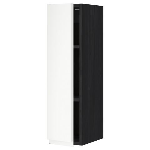 Шкаф навесной с полкой МЕТОД черный артикуль № 392.242.64 в наличии. Интернет магазин IKEA РБ. Быстрая доставка и установка.