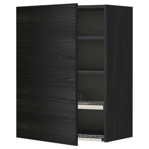 Шкаф навесной с сушкой МЕТОД черный артикуль № 392.324.38 в наличии. Онлайн магазин IKEA РБ. Быстрая доставка и монтаж.