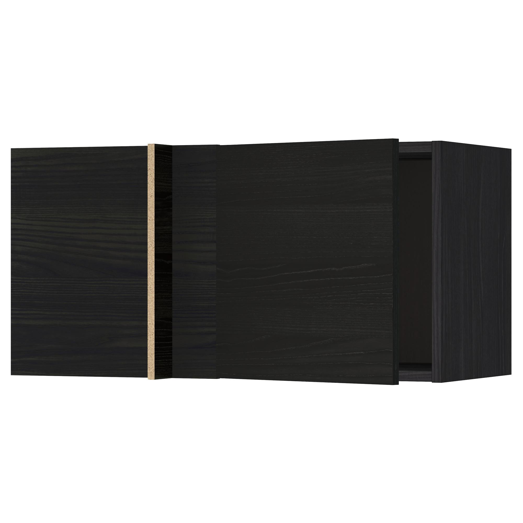 Шкаф навесной угловой МЕТОД черный артикуль № 092.321.90 в наличии. Онлайн сайт ИКЕА Минск. Недорогая доставка и монтаж.