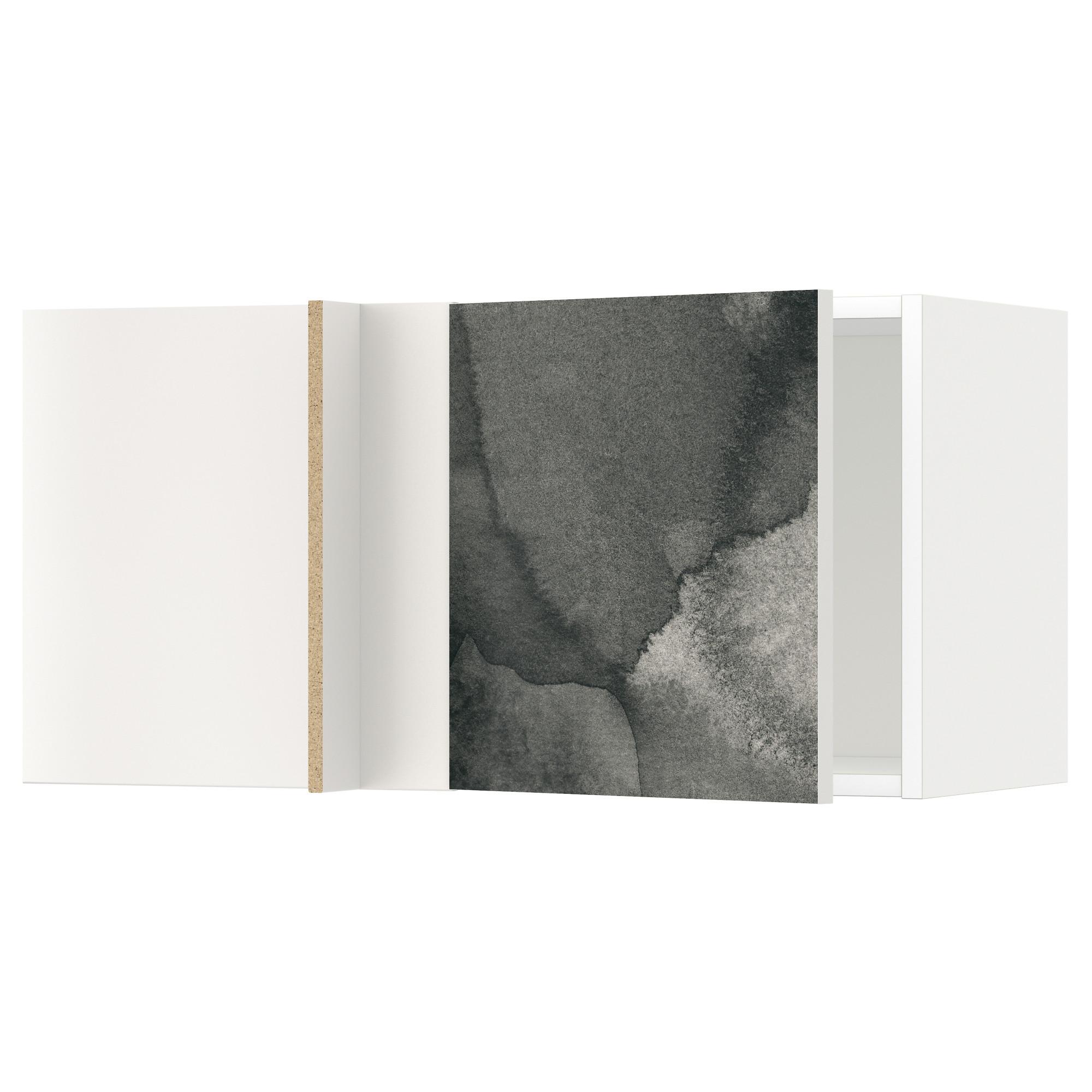 Шкаф навесной угловой МЕТОД белый артикуль № 492.320.27 в наличии. Онлайн сайт IKEA Беларусь. Быстрая доставка и монтаж.