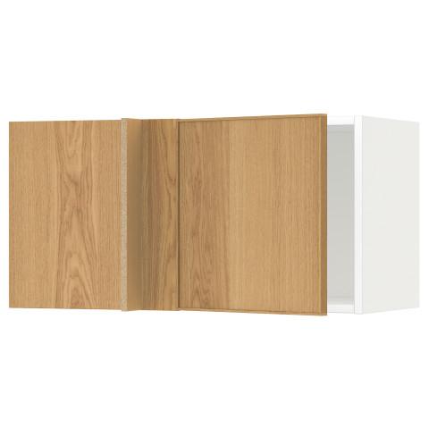 Шкаф навесной угловой МЕТОД белый артикуль № 492.394.77 в наличии. Online магазин IKEA РБ. Быстрая доставка и установка.