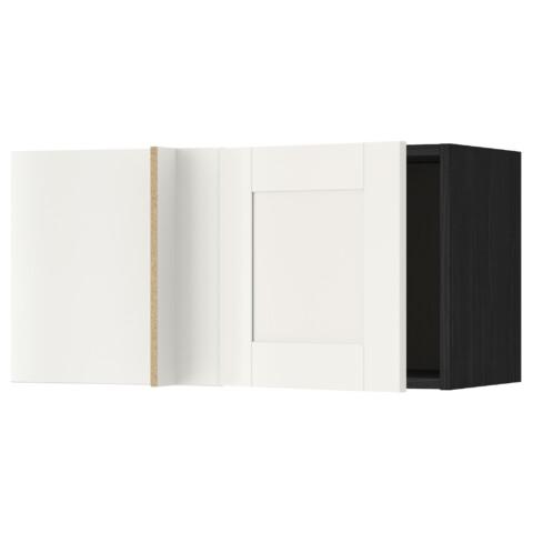 Шкаф навесной угловой МЕТОД черный артикуль № 692.229.23 в наличии. Онлайн сайт IKEA Минск. Быстрая доставка и соборка.