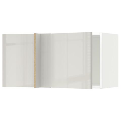 Шкаф навесной угловой МЕТОД светло-серый артикуль № 692.321.92 в наличии. Онлайн магазин IKEA РБ. Быстрая доставка и установка.