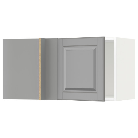 Шкаф навесной угловой МЕТОД серый артикуль № 792.270.72 в наличии. Онлайн сайт IKEA Беларусь. Быстрая доставка и установка.