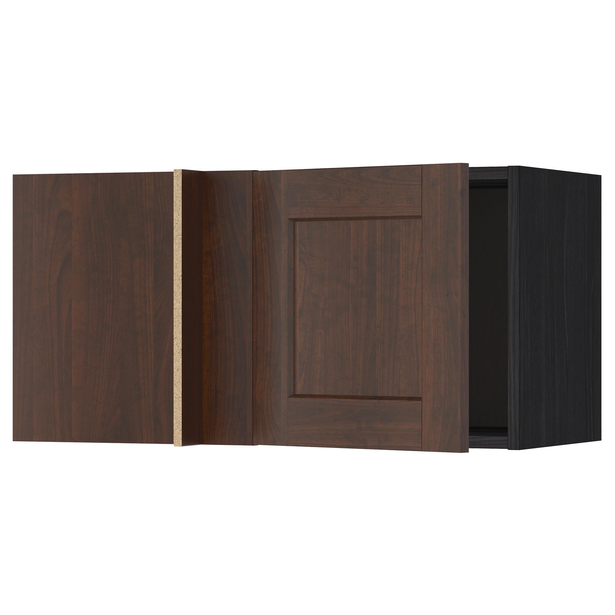 Шкаф навесной угловой МЕТОД черный артикуль № 992.264.15 в наличии. Онлайн каталог IKEA Республика Беларусь. Недорогая доставка и монтаж.