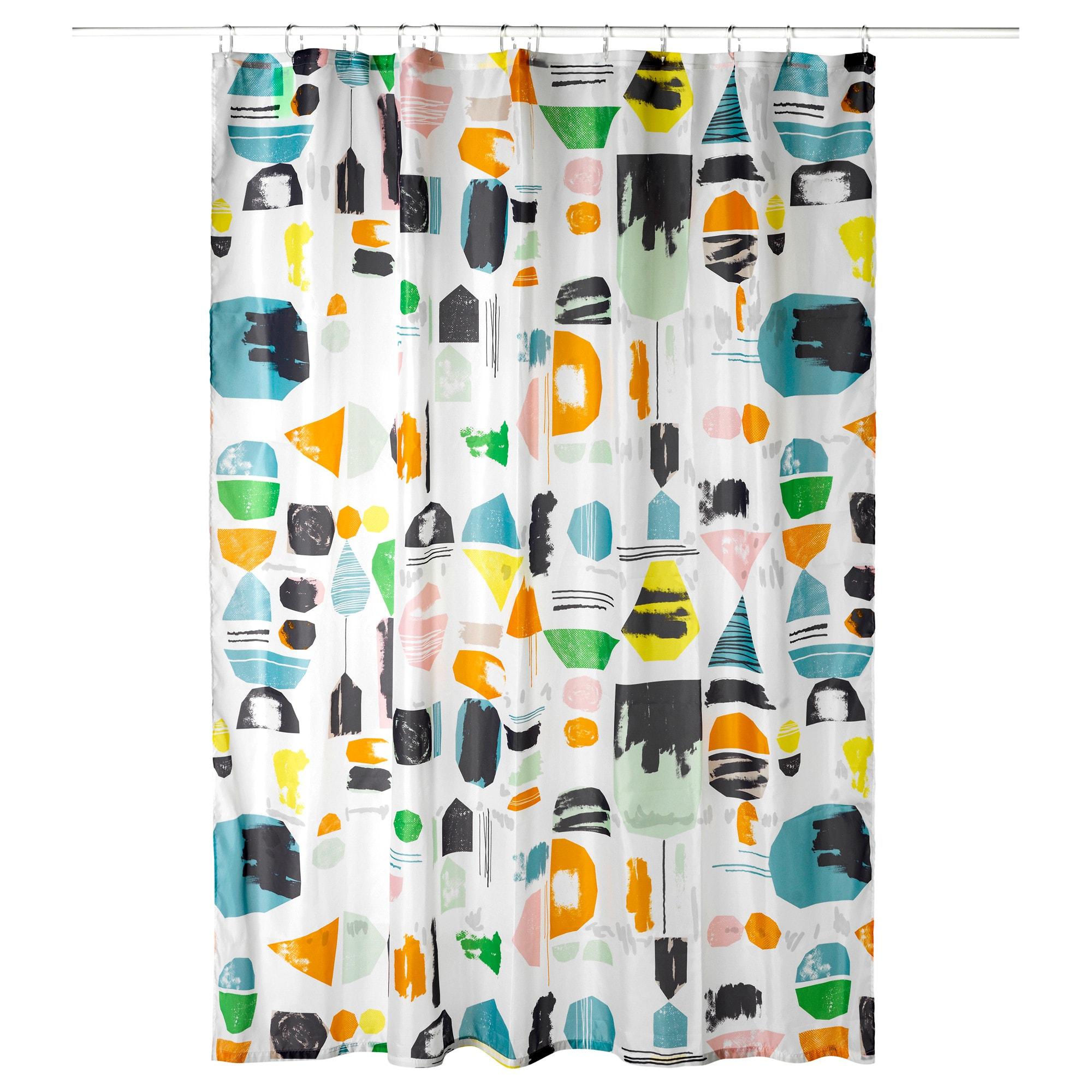 Штора для ванной ДОФТКЛИНТ разноцветный артикуль № 403.705.65 в наличии. Online сайт IKEA Минск. Недорогая доставка и соборка.