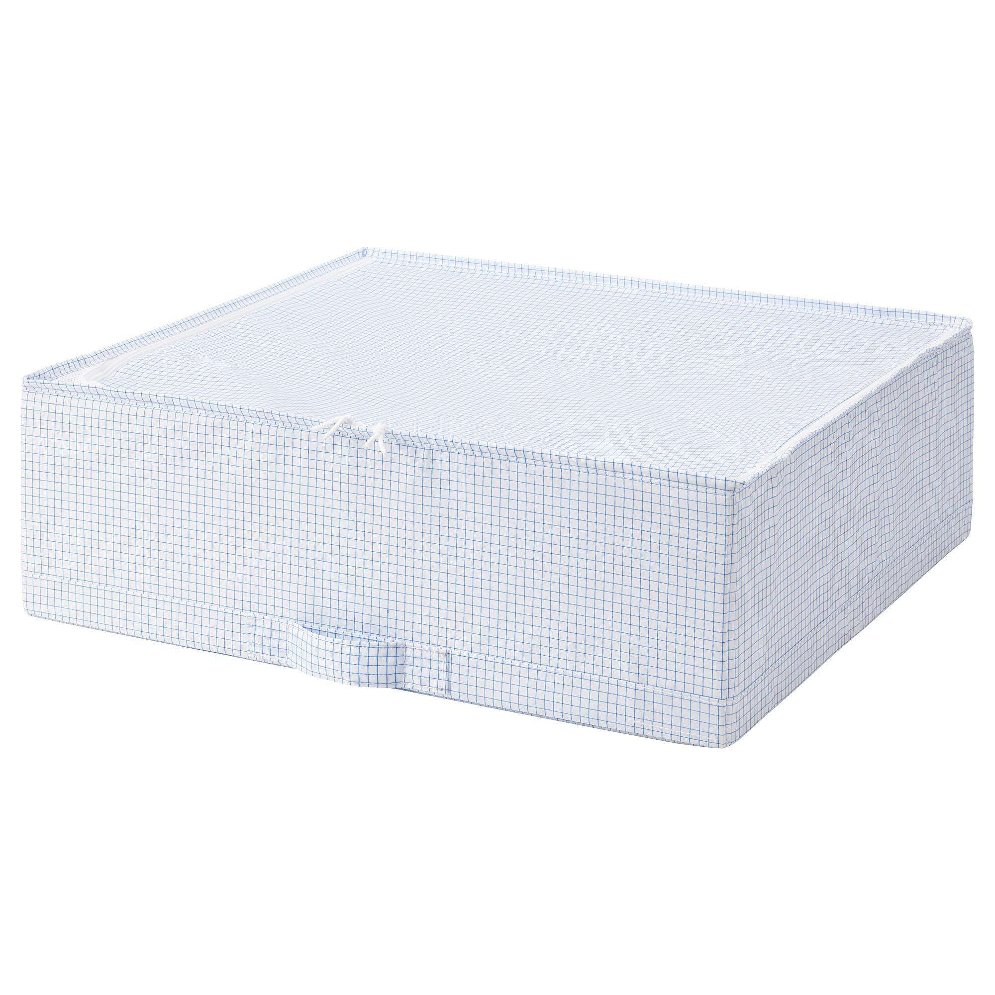 Сумка для хранения СТУК белый/синий артикуль № 703.744.87 в наличии. Интернет магазин ИКЕА Беларусь. Недорогая доставка и установка.