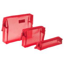 Сумочка для аксессуаров, 3 предмета ФОРФИНА красный артикуль № 803.787.05 в наличии. Онлайн магазин IKEA Беларусь. Быстрая доставка и монтаж.