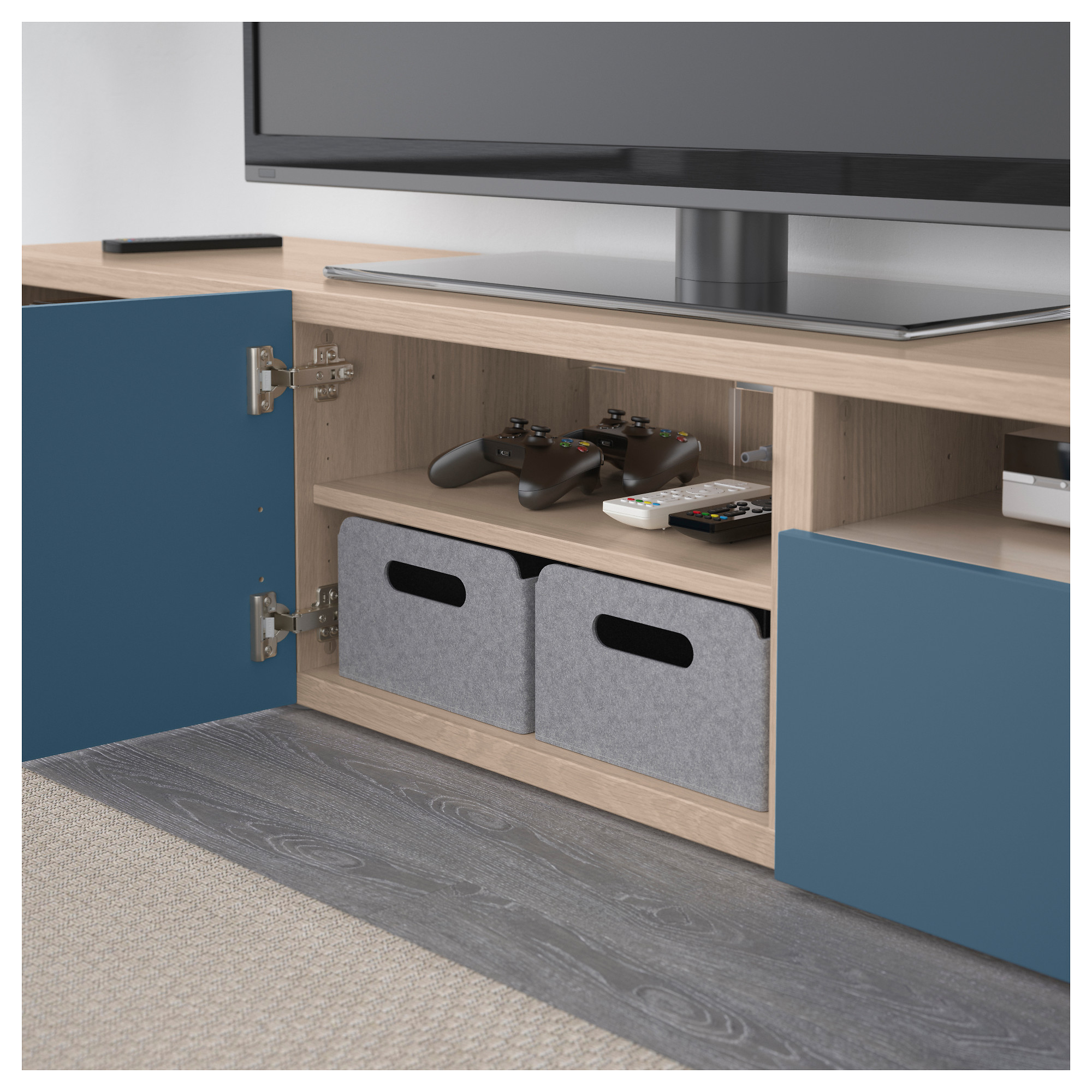 Тумба для ТВ с ящиками БЕСТО темно-синий артикуль № 192.503.34 в наличии. Онлайн каталог IKEA РБ. Недорогая доставка и установка.