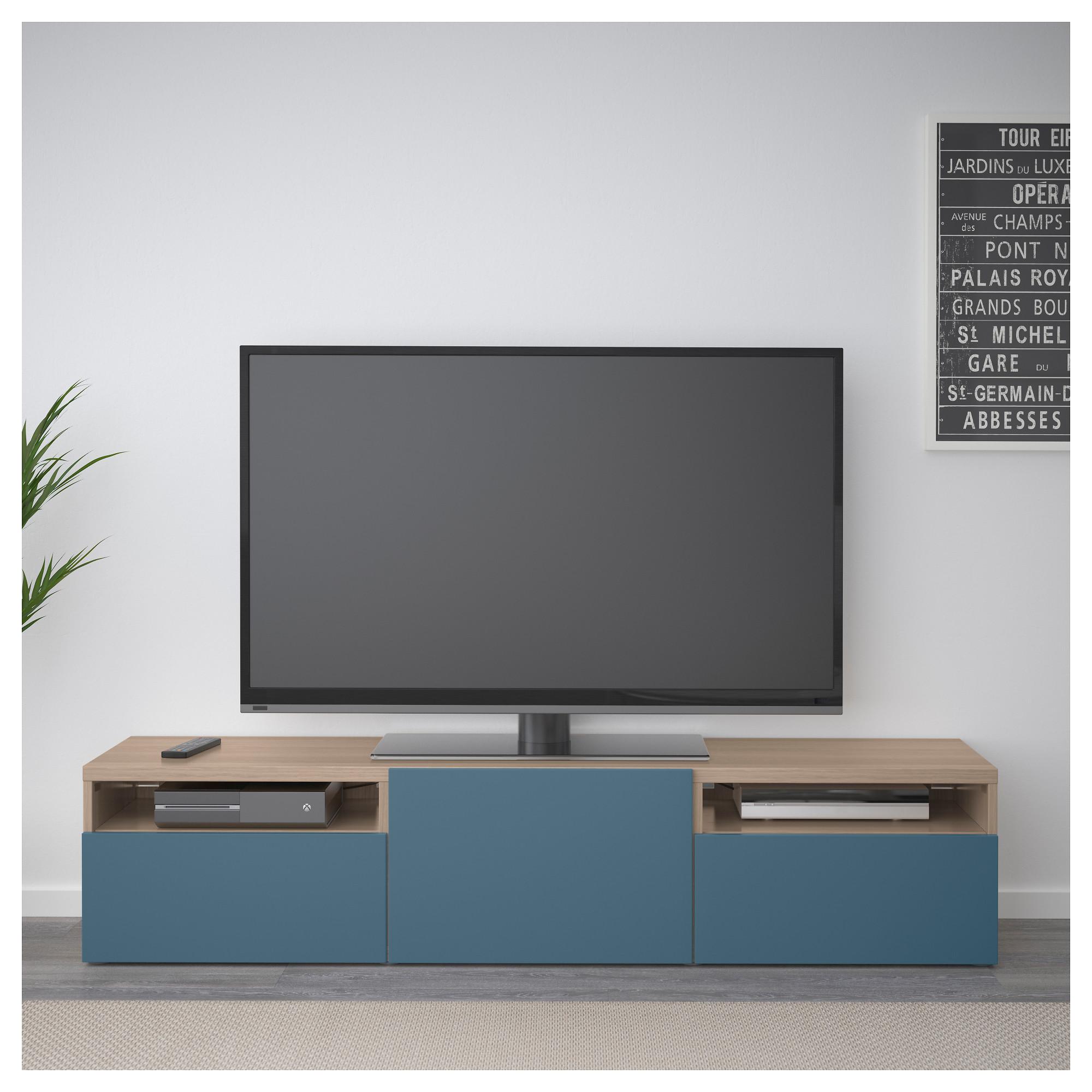 Тумба для ТВ с ящиками БЕСТО темно-синий артикуль № 692.503.36 в наличии. Online каталог IKEA Минск. Недорогая доставка и монтаж.