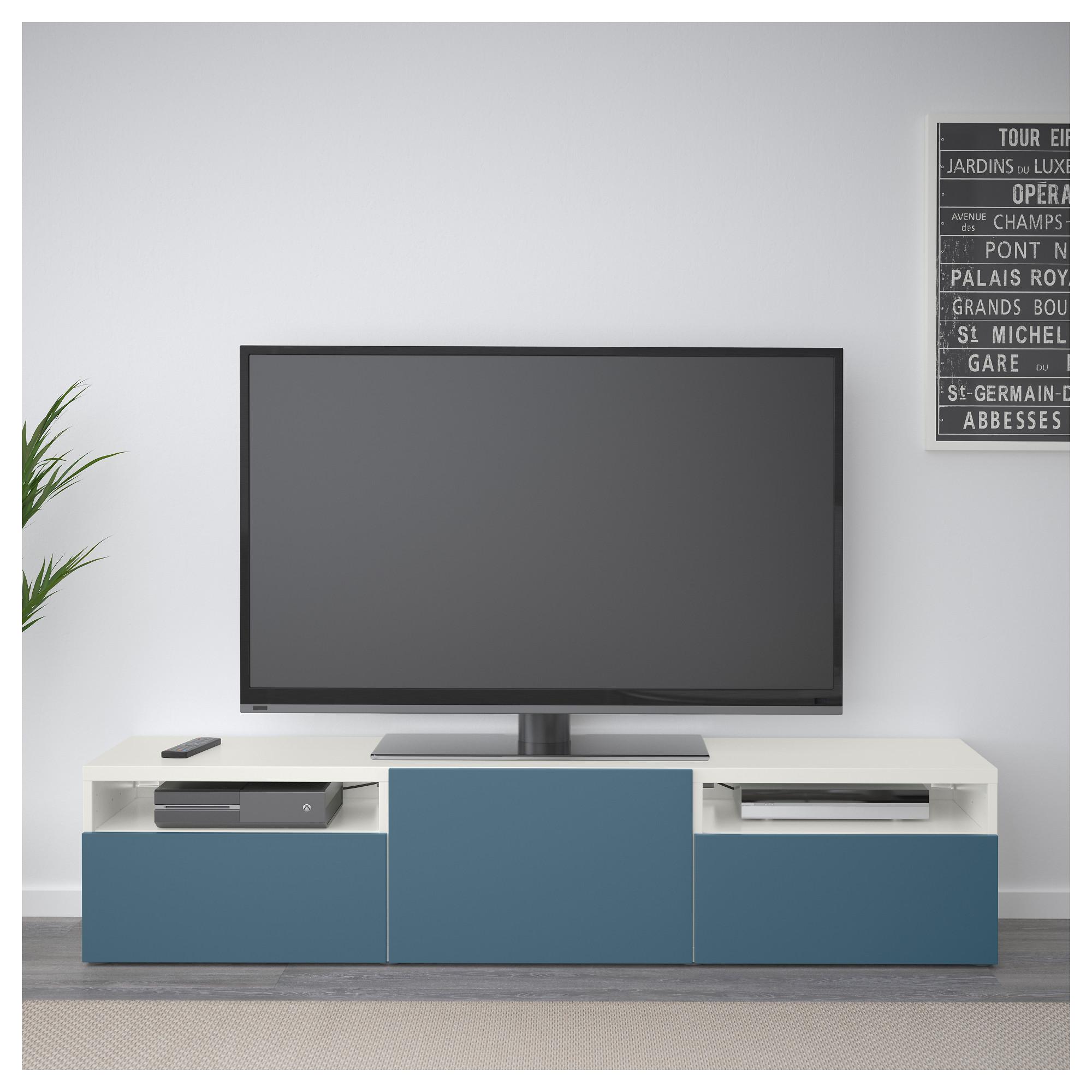 Тумба для ТВ с ящиками БЕСТО темно-синий артикуль № 792.503.69 в наличии. Онлайн магазин IKEA Минск. Недорогая доставка и соборка.