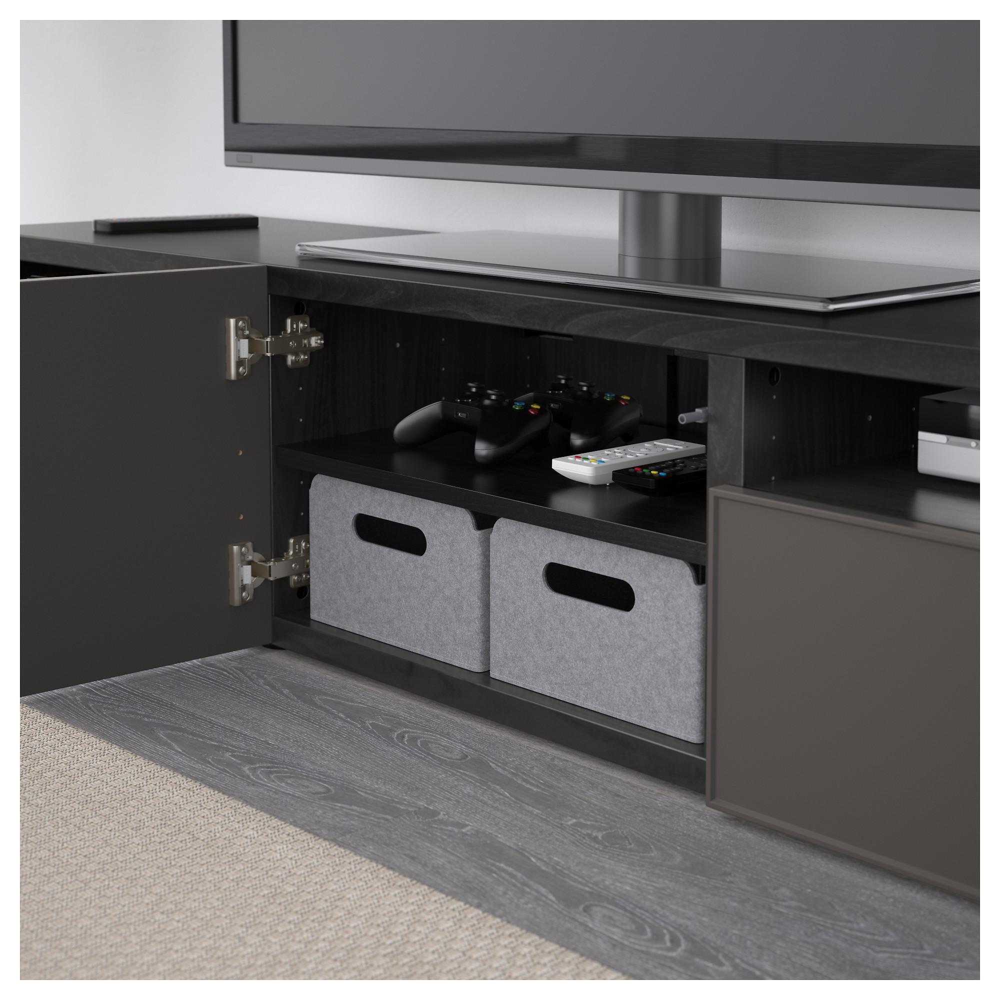 Тумба под ТВ БЕСТО темно-серый артикуль № 692.503.79 в наличии. Интернет магазин IKEA РБ. Быстрая доставка и соборка.