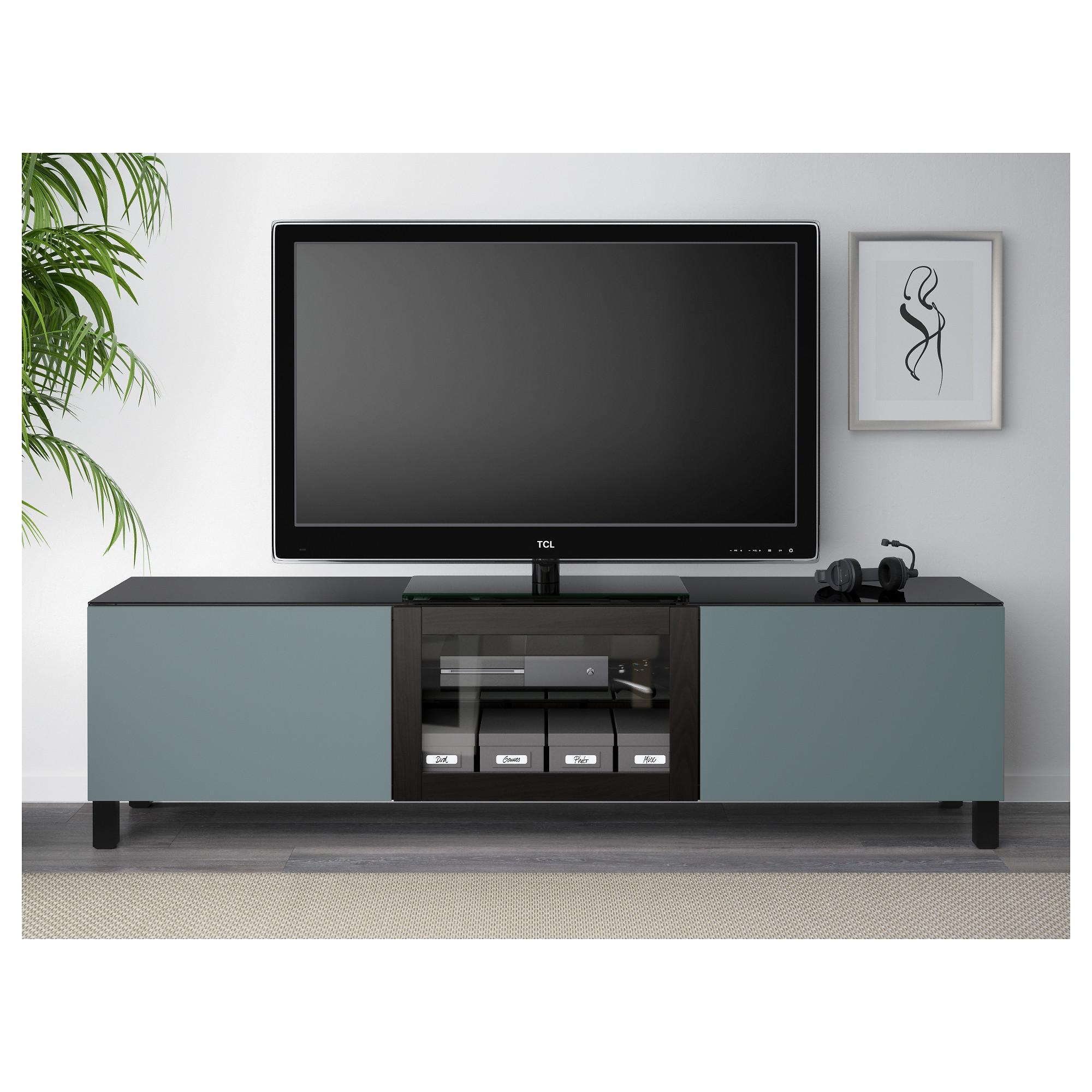 Тумба под ТВ, с дверцами БЕСТО артикуль № 392.450.06 в наличии. Онлайн сайт IKEA Минск. Недорогая доставка и монтаж.