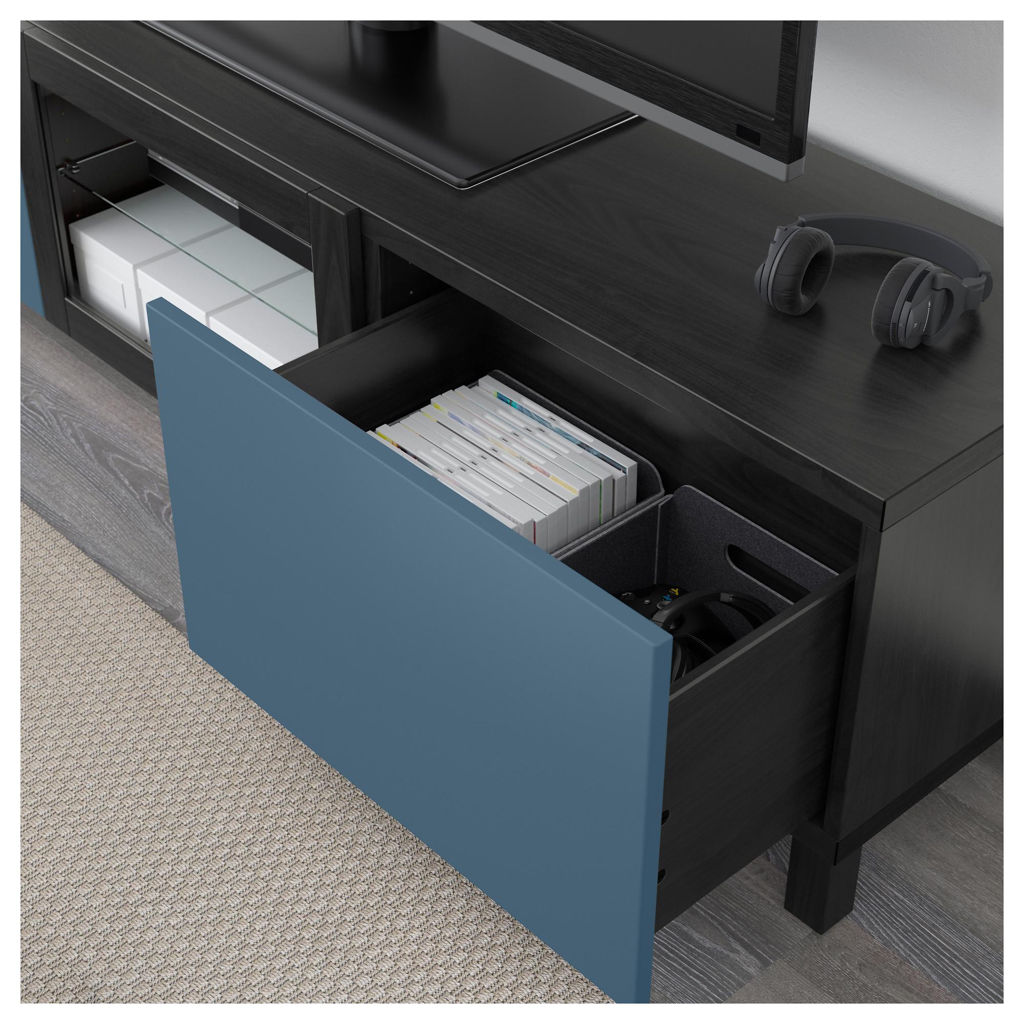 Тумба под ТВ с ящиками и дверцей БЕСТО артикуль № 392.510.40 в наличии. Интернет сайт IKEA Минск. Быстрая доставка и установка.