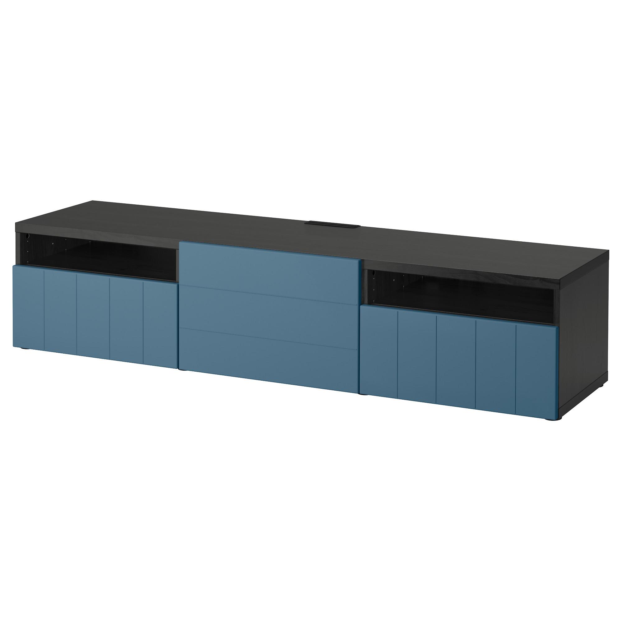 Тумба под ТВ с ящиками и дверцей БЕСТО темно-синий артикуль № 492.758.37 в наличии. Online сайт IKEA РБ. Недорогая доставка и соборка.