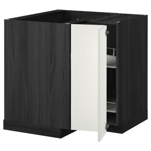 Угловой напольный шкаф с вращающейся секцией МЕТОД черный артикуль № 292.261.31 в наличии. Онлайн сайт IKEA Республика Беларусь. Недорогая доставка и соборка.