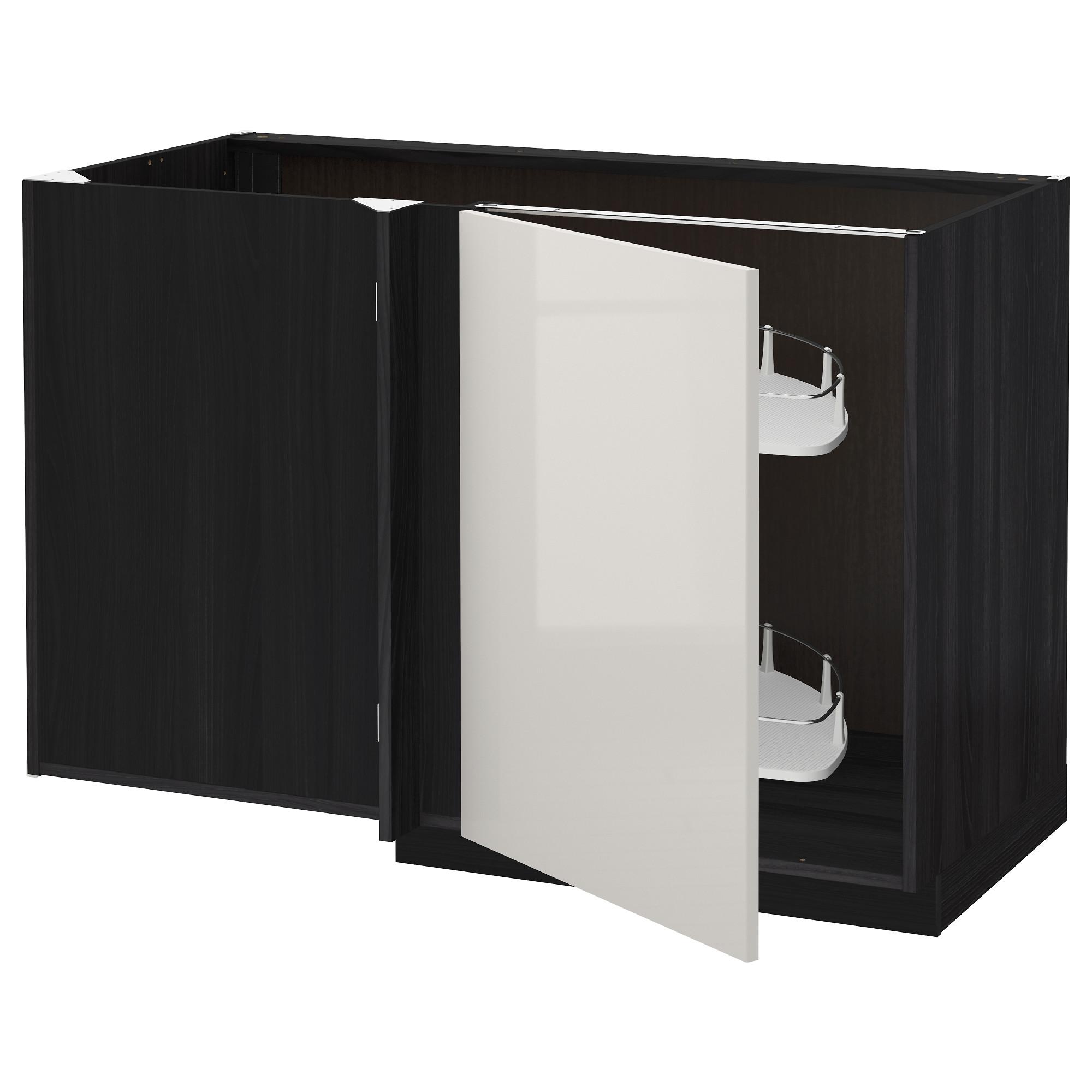 Угловой напольный шкаф с выдвижной секцией МЕТОД черный артикуль № 792.318.80 в наличии. Онлайн магазин IKEA Республика Беларусь. Недорогая доставка и монтаж.