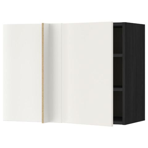 Угловой навесной шкаф с полками МЕТОД черный артикуль № 092.234.02 в наличии. Онлайн сайт IKEA РБ. Быстрая доставка и монтаж.