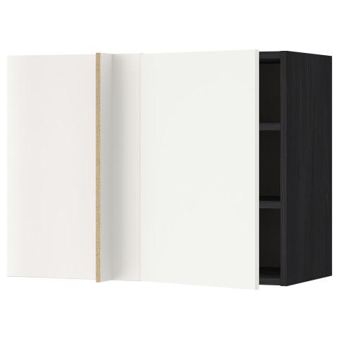 Угловой навесной шкаф с полками МЕТОД черный артикуль № 092.260.33 в наличии. Онлайн магазин IKEA Минск. Быстрая доставка и соборка.
