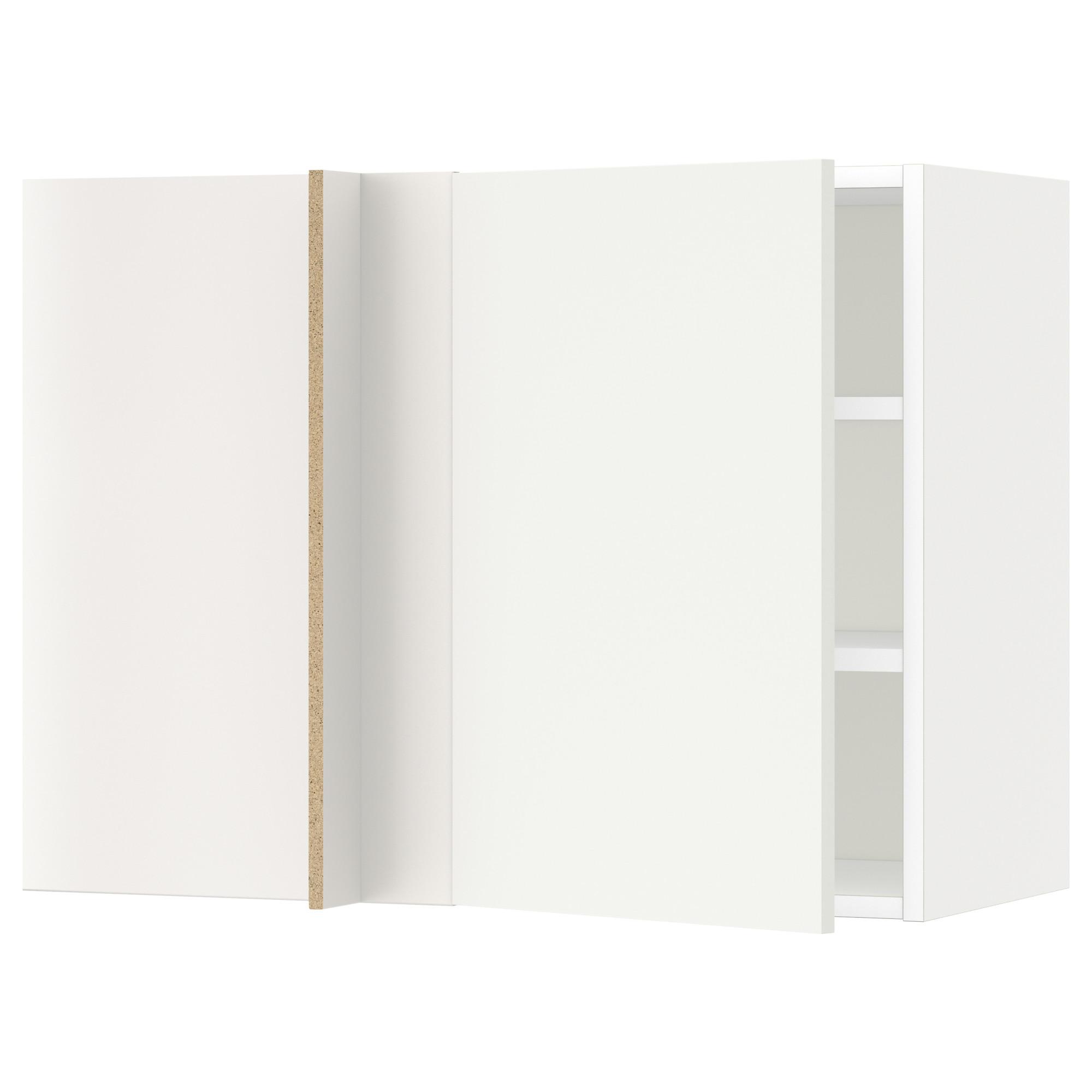 Угловой навесной шкаф с полками МЕТОД белый артикуль № 192.263.39 в наличии. Онлайн каталог ИКЕА РБ. Недорогая доставка и монтаж.