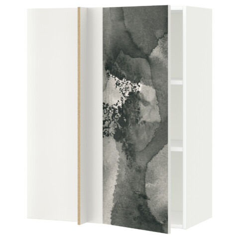 Угловой навесной шкаф с полками МЕТОД белый артикуль № 292.320.33 в наличии. Онлайн магазин IKEA РБ. Быстрая доставка и соборка.