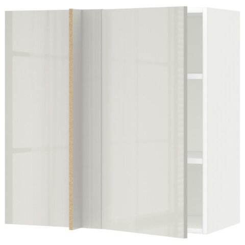 Угловой навесной шкаф с полками МЕТОД светло-серый артикуль № 592.321.97 в наличии. Онлайн каталог IKEA РБ. Недорогая доставка и установка.