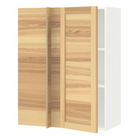 Угловой навесной шкаф с полками МЕТОД белый артикуль № 692.260.49 в наличии. Онлайн магазин IKEA Минск. Быстрая доставка и монтаж.