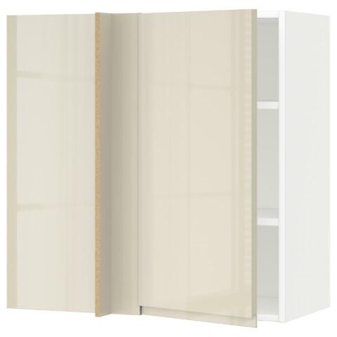 Угловой навесной шкаф с полками МЕТОД белый артикуль № 992.243.55 в наличии. Интернет сайт IKEA Минск. Быстрая доставка и установка.